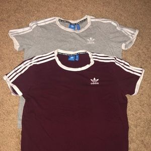Two women's adidas shirts